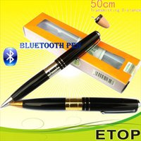 Wholesale 2015 NEW Bluetooth slim Pen HERO With Spy Earpiece cm Long Transmitting Distance Can Work during Writing