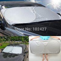 Wholesale 2014 New Car Window Sun Shade Car Windshield Visor Cover Block Front Window Sunshade UV Protect Car Window Film cm