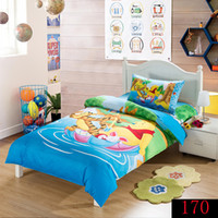 animations cotton cover - Cartoon Animation Winnie Pooh Bedding set boys and girls Bed Sets Duvet Cover Bedding Sets New Arrival Bedclothes Sets Home Textiles