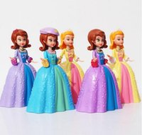 amber key - hot sale set Pricesss Doll Sofia the First Amber PVC Figure Model Toy Gift For Children