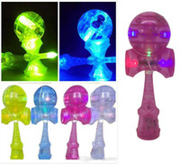 Wholesale DHL Flash light Skills Kendama Ball LED toys cm Games Intelligence toys new skills sword ball jade sword plastic kendama ball toy B