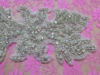 aa wings - Fancy Wings Shape Acrylic Beaded Rhinestone Crystal Bridal Ribbon Accessories Rhinestone Patch for Bridesmaid AA cm cm