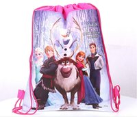 Backpacks children school bag - Factory Direct Retail New Most Popular Frozen Children School Bags High Quality Beach Backpack Kids Girls Boys Bag With String