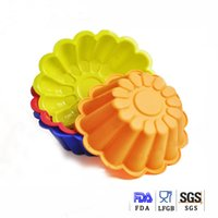 sugar flowers - silicone cake mould mum flower chocolate sugar candy baking mold oven microwave freezer BPA free kicthen cooking tool