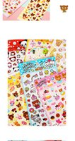Wholesale High Quality Cute Lovely Happy Teddy Bear Cubs Stickers DIY Scrapbooking Paper Diary Notebook Decoration Stickers MW