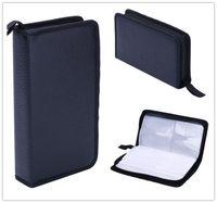 cd wallet - Home Portable Faux Leather Disc CD DVD Wallet Storage Organizer Holder Bag Case