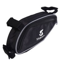 Wholesale Outdoor Triangle Bicycle Cycling Bike Bag Beams For Tripod Phone Tools Wallet Front Tube Bags TY1631