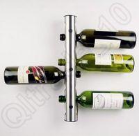 wine rack stainless steel - 50PCS HHA716 Hot Sell Partical Stainless Steel Bar Wine Rack Wine Shelf Wall Mounted Holder Bottles