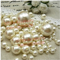 abs cross - pack mixed sizes mm mm mm mm mm pearl color round ABS imitation pearl with holes sewing accessory