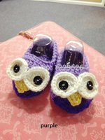 big bird shoes - Fashion Big eyed bird baby shoes crochet baby gift purple baby shower