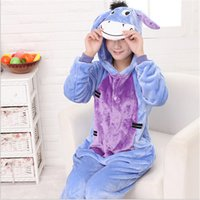 Wholesale Hot sell Eeyore Donkey Unisex girl boy Couple Anime Animal Pajamas Cartoon Cosplay Costume party suit Halloween Christmas gift