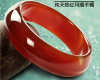 Wholesale Natural ice red agate bracelet hand carved charm luck bangle