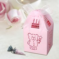 bear baby shower - 50pcs in a Lovely teddy bear design baby shower favor box candy box for birthday party decoration