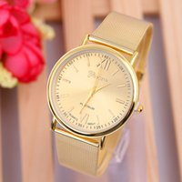 Wholesale Foreign hot explosion models of fashion exquisite gold watch table series watch fashion ladies GENEVA watch strap