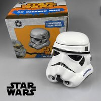 Wholesale NEW arrival Star Wars Mug Stormtrooper Helmet Darth Vader Helmet Mug D Ceramic Coffee And Drink Tea Cup With Removable Lid