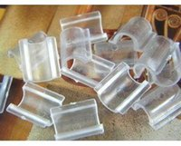 Wholesale 10 MM White Clear Plastic Acrylic Hair Rope Clasps DIY Jewelry Accessory Hair Findings
