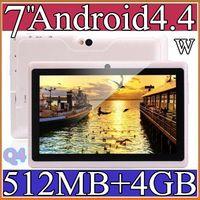 Wholesale Q4 Cheapest Allwinner quot A33 Quad Core Tablet PC Android DDR3 MB GB Dual Camera Flash Wifi OTG External A33 Q88 PB7B