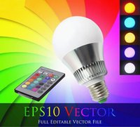 Wholesale Indoor the new E27 W RGB Big Ball LED Bulb Lamp Key Color Remote Control V V Memory Function