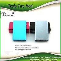 Wholesale Autehentic Tesla Two Box Mod W Tesla mah battery Mod VS Fit Sub Ohm Smok TFV4 Mini Uwell Crown Tank vs Tesla One mod