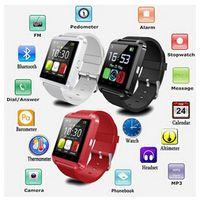 U8 Smart Watch Montres-bracelets Bluetooth Altimètre Smartwatch pour Apple iPhone 6 5S Samsung S4 S5 Remarque Android HTC téléphones Smartphones Free DHL