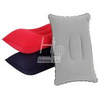 travel pillow - Portable Fold Outdoor Travel Sleep Pillow travesseiro Air Inflatable Pillow Cushion Break Rest Drop Shipping