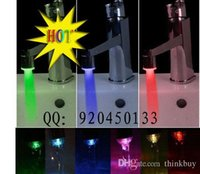 Wholesale Mini led faucet color changing led puick three color eco friendly battery