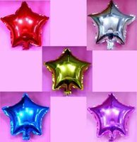 balloons wall color - inch small wall Multicolor high quality solid color five pointed star aluminum balloon birthday decoration balloon