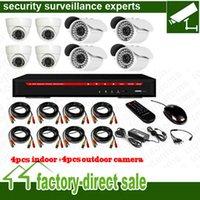 Wholesale 8CH DVR camera Kit CH H DVR dome camera waterproof camera CMOS700TVL H SONY Effio TVL accessories set GB GB HDD