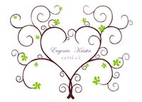 Wholesale Sweetheart Wedding Fingerprint Tree Guest book Canvas Printing Signature Books wedding decoration Bridal Shower Wedding Plan