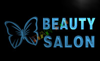 beauty nails shop - LB045 TM OPEN Beauty Salon Shop Nails NR Neon Light Sign Advertising led panel jpg
