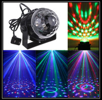 Wholesale Professional Mini DMX Disco DJ Stage Light LED RGB Crystal Magic Ball Effect voice control stage lighting Q109