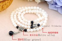 Beaded, Strands Asian & East Indian Women's Wholesale Chinese creative fashion natural shell beads clam Tridacna women retro multi four laps fashion jewelry bracelet jewelry