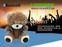 bears radio - lovely bear Bluetooth Speaker Portable Wireless FM Radio Built in Mic MP3 with Detachable Battery New