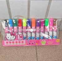 Wholesale Lowest Price kawaii Hello Kitty Cartoon watercolor pen For Kids drawing