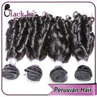 Wholesale AAAAA new curly hairstyle BLACK IN peruvian spiral curl virgin remy human hair weave natural black hair bundles