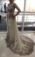 Cheap Actual Pictures Crew Neckline Sequined Long Evening Dresses 2015 New Sleeveless Grand Beaded Tulle Floor-Length Evening Gowns