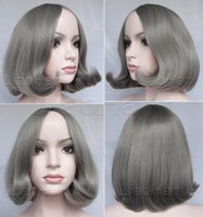 Wholesale 2016 New Fashion Grey Short Wig Bob Hair Wig Grey Anime Hair Party Cosplay Wig for Women
