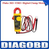 Cheap Wholesale-Original Fluke 302+ F302+ Digital Clamp Meter AC DC Multimeter Tester w  Case by Free Shipping