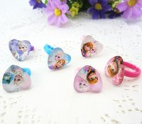 Wholesale froz Anna Elsa queen ring baby party children kinds finger ring cartoon ring