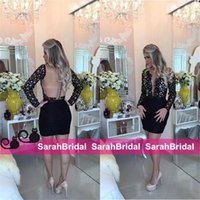 arab fashion designers - Fashion Designer Cocktail Dresses Cheap Wedding Evening Christmas Little Party Gowns Long Sleeves New Formal Arabic Arab Sexy Wear