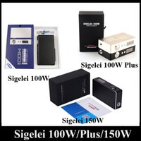 Wholesale Authentic Sigelei W Plus W Sigelei Mini W W VR2 Box Mod Watt Watt Digital Mod fit Low Resistance Sub Ohm Tanks