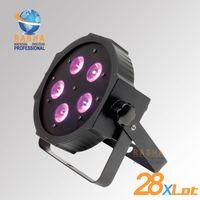 american dj uv - 28X New Arrival ADJ W in1 RGBAW UV Mega Quadpar Profile LED Par Light DMX Par Can American DJ Light For Event Party