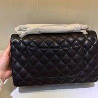 Wholesale 28 cm Original Lambskin quilted CF flap cc messenger bag Classic ladies shoulder bag