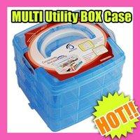 c037 - Best Selling NAIL ART Craft MAKEUP MULTI Utility BOX Case Blue C037
