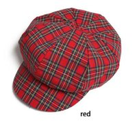 Wholesale new fashion pure wool hat chequer beret cap newsboy cap warm in autumn and winter for women and girl