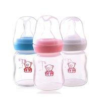 Wholesale 60ml PP Baby Feeding Bottle Cartoon Fruit Juice Water Bottle Silicone Pacifier Scale Line For Newborns Infants High Quality Mini