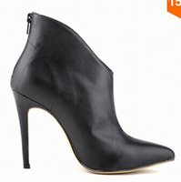 Wholesale Autumn New Product Botas Femininas High end Women Shoes Boots High Heels Boots Occident Bare Pointed Shoes Martin Boots