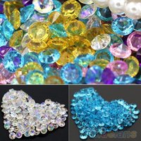 Wholesale 2000 mm Wedding Decoration Scatter Table Faux Diamond Acrylic Confetti