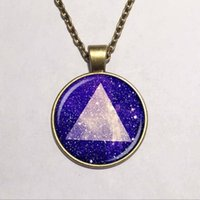american hipster - Glass Dome pendant hipster triangle galaxy necklace diy jewelry fashion wooden pendant necklace jewelry