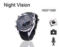 Wholesale W5000 New GB GB Waterproof wrist Watch Spy Hidden Camera Camcorder DVR P With IR Night Vision Cam